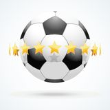 Vector illustration of football ball with golden Stock Image