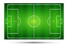 Vector illustration of football field, soccer field.  Stock Image