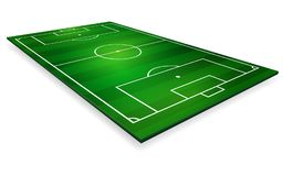Vector illustration of football field, soccer field.  Royalty Free Stock Photography
