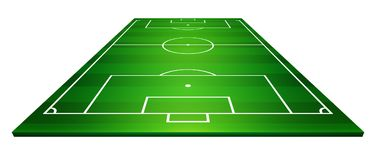 Vector illustration of football field, soccer field.  Royalty Free Stock Photos