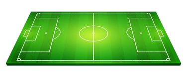 Vector illustration of football field, soccer field.  Stock Photography