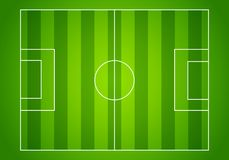 Vector illustration football field or soccer field with green pattern for background. Showing from above Royalty Free Stock Photo