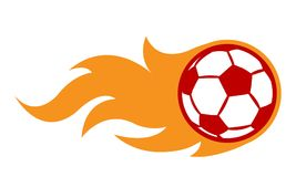 Vector illustration of football soccer ball with simple flame sh. Ape. Ideal for sticker, decal, sport logo and any kind of decoration Stock Photo