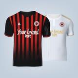 Vector illustration of football t-shirt template. Vector illustration of football, soccer t-shirt template stock illustration