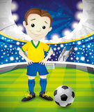 Vector illustration. Footballer. Royalty Free Stock Photo
