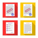 Vector design of form and document sign. Set of form and mark stock symbol for web. vector illustration