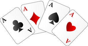 Vector illustration of four aces Stock Photo