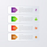 Vector illustration of four rectangles infographics Royalty Free Stock Photos