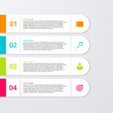 Vector illustration of four rectangles infographics Royalty Free Stock Image
