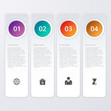 Vector illustration of four rectangles infographics Royalty Free Stock Photography