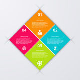 Vector illustration of four square infographics Royalty Free Stock Photo