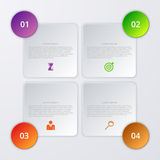 Vector illustration of four square infographics Stock Images