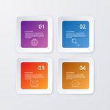 Vector illustration of four square infographics Royalty Free Stock Images