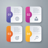 Vector illustration of four square infographics Royalty Free Stock Photography