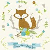 Vector illustration of fox Royalty Free Stock Photo