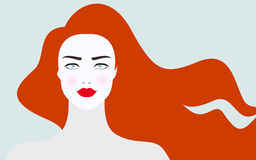 Vector illustration of foxy haired woman Stock Photography