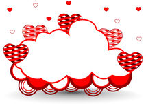 Vector illustration of a frame in cloud shape Stock Photography