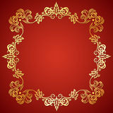 Vector illustration frame with floral ornament Royalty Free Stock Image