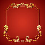 Vector illustration frame with floral ornament Royalty Free Stock Photos