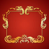 Vector illustration frame with floral ornament Stock Image