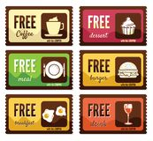 Free labels. Vector illustration of the Free labels Royalty Free Stock Photography