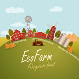 Vector illustration for fresh food. Eco farm Stock Image