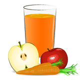 Vector illustration of fresh fruits juice Stock Photography