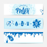 Vector illustration of fresh milky banner design template Royalty Free Stock Photography