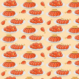 Vector illustration fried chicken legs seamless pattern Stock Image