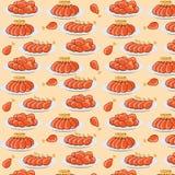 Vector illustration fried chicken legs seamless pattern Stock Image
