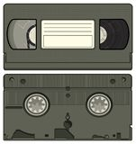 Video Tape Retro Vector Graphic Illustration. This is a vector illustration of the front and back of an old video tape from the 1980s and 1990s Royalty Free Stock Photos