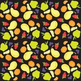 Vector illustration of fruit and berry pattern Royalty Free Stock Image
