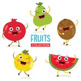 Vector Illustration of Fruit Characters Stock Photography