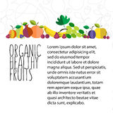 Vector illustration of fruit hand drawn template in flat design Royalty Free Stock Image