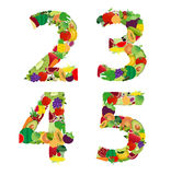 Vector illustration fruit and vegetable alphabet letter Royalty Free Stock Photography