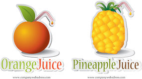 Vector illustration - fruits icons Royalty Free Stock Image