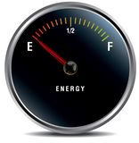 Low energy, anemia concept fuel gauge royalty free illustration