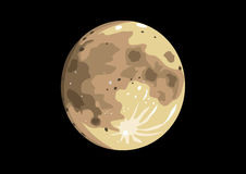 Vector illustration of the full moon Stock Image
