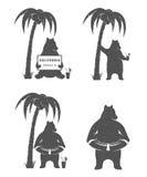 Vector Illustration Fun Bear Stock Photo