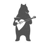 Vector Illustration Funny Bear Royalty Free Stock Photos