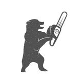Vector Illustration Funny Bear Stock Image