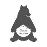 Vector Illustration Funny Bear Stock Photo