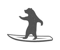 Vector Illustration Funny Bear Royalty Free Stock Photography