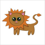 Vector illustration of funny cartoon lion Stock Image