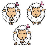 Funny sheeps Royalty Free Stock Images