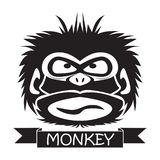 Vector illustration of funny chimpanzee royalty free stock images