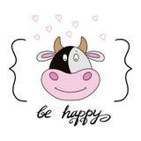 funny cute animal print stock illustration