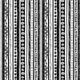 Funny scary black white seamless background abstract pattern for halloween Stock Images