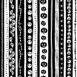 Funny scary black white seamless background abstract pattern for halloweeen Royalty Free Stock Photo