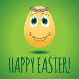 Vector illustration with funny egg, dedicated to Happy Easter Day Royalty Free Stock Photography
